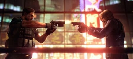 Chris Redfield e Leon Kennedy em Resident Evil 6