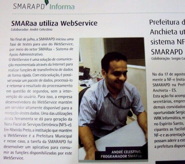 Informativo SMARAPD sobre a utilização de WebService no sistema SMARaa
