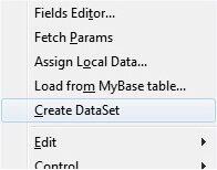 CreateDataSet para criar a tabela temporária