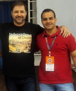 Foto com Bruno Souza (JavaMan) no TDC 2013
